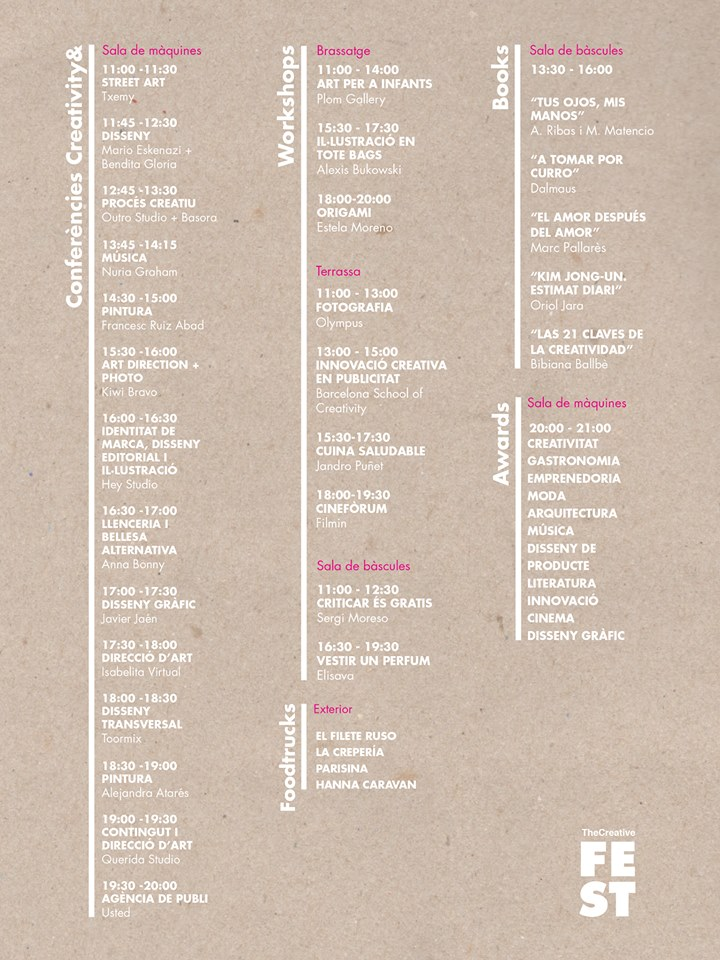 agenda TheCreativeFest