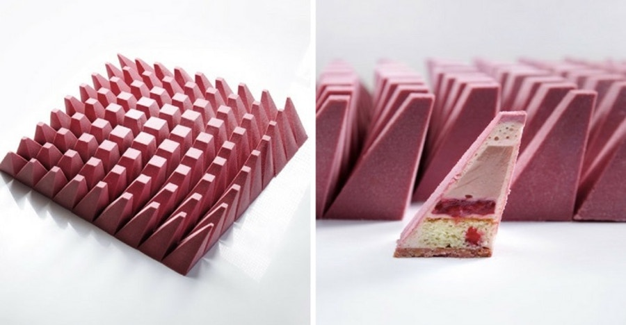 tarta de color rojo